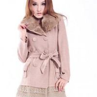 Beautiful Lace Embellished Girls Winter Coats Tea Color : Wholesaleclothing4u.com