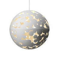 Heal's | Zero Interiors Camouflage White Laser Cut Pendant Light > Pendants