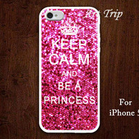 iPhone 5 Case -- Keep Calm and be a princess iPhone 5 Case,sparkle iPhone Case, graphic iphone 5 case