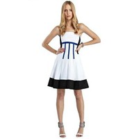 Strapless Colourblock Dress
