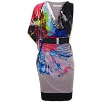 Dress With Bold Paint Splash Print
