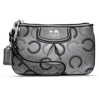 COACH MADISON DOTTED OP ART SMALL WRISTLET - Wristlets - Handbags &amp; Accessories - Macy&#x27;s