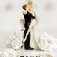Funny Sexy Wedding Bride and Groom Cake Topper Figurine: Amazon.com: Kitchen &amp; Dining
