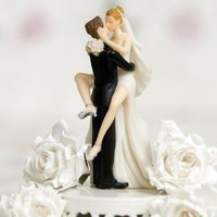 Funny Sexy Wedding Bride and Groom Cake Topper Figurine: Amazon.com: Kitchen & Dining