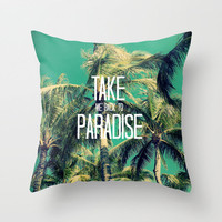 TAKE ME BACK TO PARADISE II  Throw Pillow by Tara Yarte  | Society6