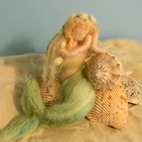 Little Mermaid, Needle Felted, Victorian