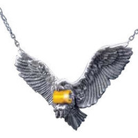 Harry Potter Flying Hedwig Pendant by Noble Collection: WBshop.com - The Official Online Store of Warner Bros. Studios