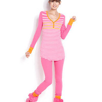 Jenni Pajamas, Ski Bunny Thermal Top and Pajama Pants - Womens Juniors Pajamas & Robes - Macy's