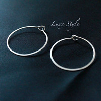 Silver Hoop Ear Rings Handmade Eco-friendly contemporary Everyday Wear Metal work Jewelry Luxe Style