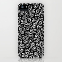 black and white swirls iPhone Case by Sylvia Cook Photography | Society6