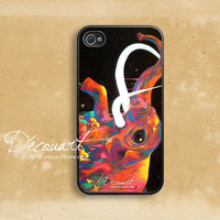iPhone 5 case, Unique iPhone 4 case, iPhone 4s case, case for iPhone 4, elephant graffiti B157