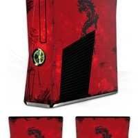 Design Skins for Microsoft Xbox 360 Slim - Dragon Tribal Design Folie