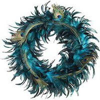 Product Details - Peacock Feather Wreath