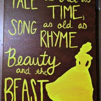 Beauty and the Beast painting on canvas