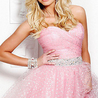 Short Pink Junior Prom Dresses, Semi Formal Pink Dresses-PromGirl