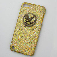 hunger games mockingjay And yellow Hard Case Cover  for Apple Ipod Touch 5, iPod Touch 5th,iTouch 5,iPod Touch 5