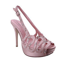 Prom Shoes, High Heels, Sexy Shoes, Formal Dress Shoes- PromGirl: Roxy by Night Moves in Blush
