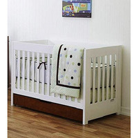 Baby Mod ParkLane 3-in-1 Baby Convertible Crib, Amber and White  Walmart.com