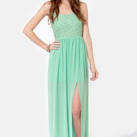 Let's See-quin Mint Maxi Dress