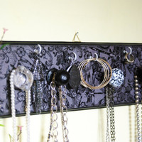 Jewelry Display, Accessories Holder, Necklace, Earring, Bracelet Display, Black and White, Black Lace