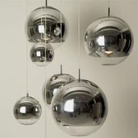 Heal's | Mirror Ball Silver Pendant Light 40cm by Tom Dixon > Pendants