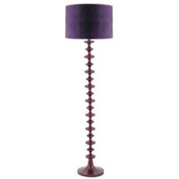 Heal&#x27;s | Aubergine Turned Wood Floor Lamp &gt; Floor Lamps