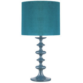 heal 39 s teal turned wood table lamp with from heal 39 s my. Black Bedroom Furniture Sets. Home Design Ideas