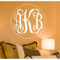 Alphabet Garden Designs Fancy Dot Interlock Monogram Wall Decal - MONO054 - All Wall Art - Wall Art & Coverings - Decor
