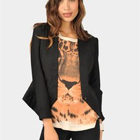 Bandage Fit Blazer - Black at Necessary Clothing