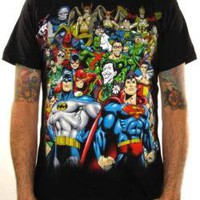 ROCKWORLDEAST - DC Comics, T-Shirt, Stacked Group