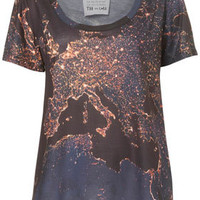 Europe Night Map Tee By Tee and Cake