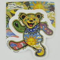Dancing Sunshine Daydream Bear Sticker -- Mexicali Blues