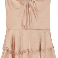 Rebecca Taylor | Tiered satin strapless top | NET-A-PORTER.COM