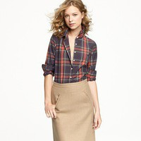 Women&#x27;s shirts &amp; tops - casual shirts - Perfect shirt in tartan - J.Crew