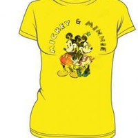 ROCKWORLDEAST - Disney, Girls T-Shirt, Mickey &amp; Minnie
