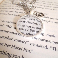 The Fault in Our Stars Dear Brutus John Green Silver Plated Book Page Necklace