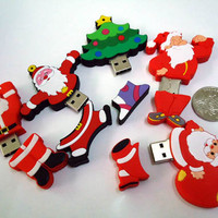 Christmas Tree and Santa Claus USB Flash Drive - GULLEITRUSTMART.COM