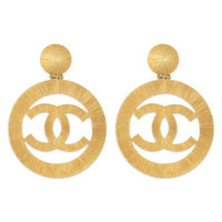Vintage Chanel CC Cambon Earrings | Rent The Runway