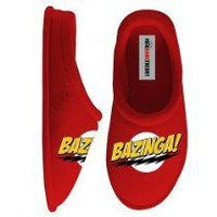 Cool Stuff - Big Bang Theory Red Bazinga Clog Adult Slippers