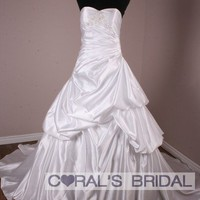 MS202(f) strapless ball gown wedding dress coralsbridal