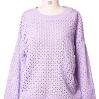 Violet Dream Sweater - Retro, Indie and Unique Fashion
