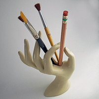 Helping Hand Brush Pen or Pencil Holder by TheMedicineShow on Etsy
