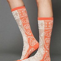 Free People Hayes Paisley Sock