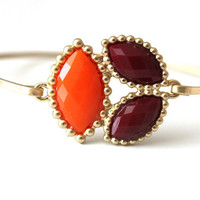 Orange and brown bangle - custom size - limited offer