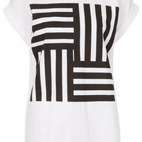 Geo Stripe Placement Tee - New In This Week -Jersey Tops- New In