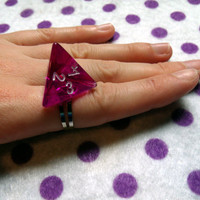 DnD Gamer Dice Triangle Ring