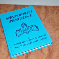 Vintage Book Mr. Popper's Penguins by Richard and Florence Atwater