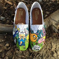 Adventure time crystal hand painted toms