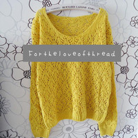 Golden Yellow Knit Sweater  from For the Love of Thread