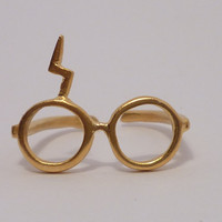 Harry Potter Lightning glasse Gold plated 18K ring